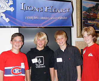 Photo of past members Michael Zarian, Alex nowlin, Bryan Luce, Chase Clark